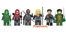 New Cool Super Heroes Minifigures DIY Bricks Arrow/Arsenal/Deathtroke/Black Canary/Dark Archer/Rasal ghul 6pcs/lot