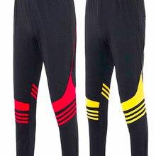 Спортивные штаны для футбола, мужские футбольные брюки из полиэстера с карманом на молнии, для бега, фитнеса, тренировок, бега, спортивные шт...
