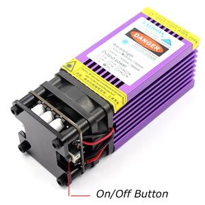 Image 2 - OXLasers 450nm 15W Blue Laser Module 15000mW Laser Head for DIY Laser Engraving Cut with PWM Purple Heat Sink Cutting Plywood