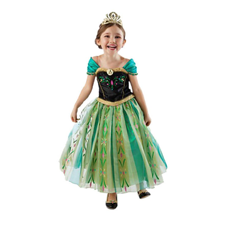 hot Summer Girl Fashion Elsa Anna Dress Children Clothing Girls Princess Elsa Anna Party Dresses Baby Kids Clothes