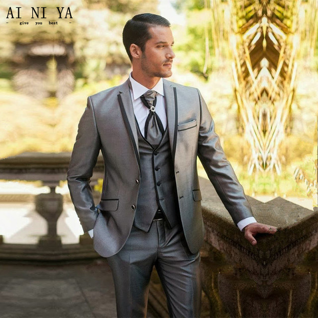 Mens Wedding Suits Groom Tuxedos Formal Business Best Man Blazers Custom 3 Piece
