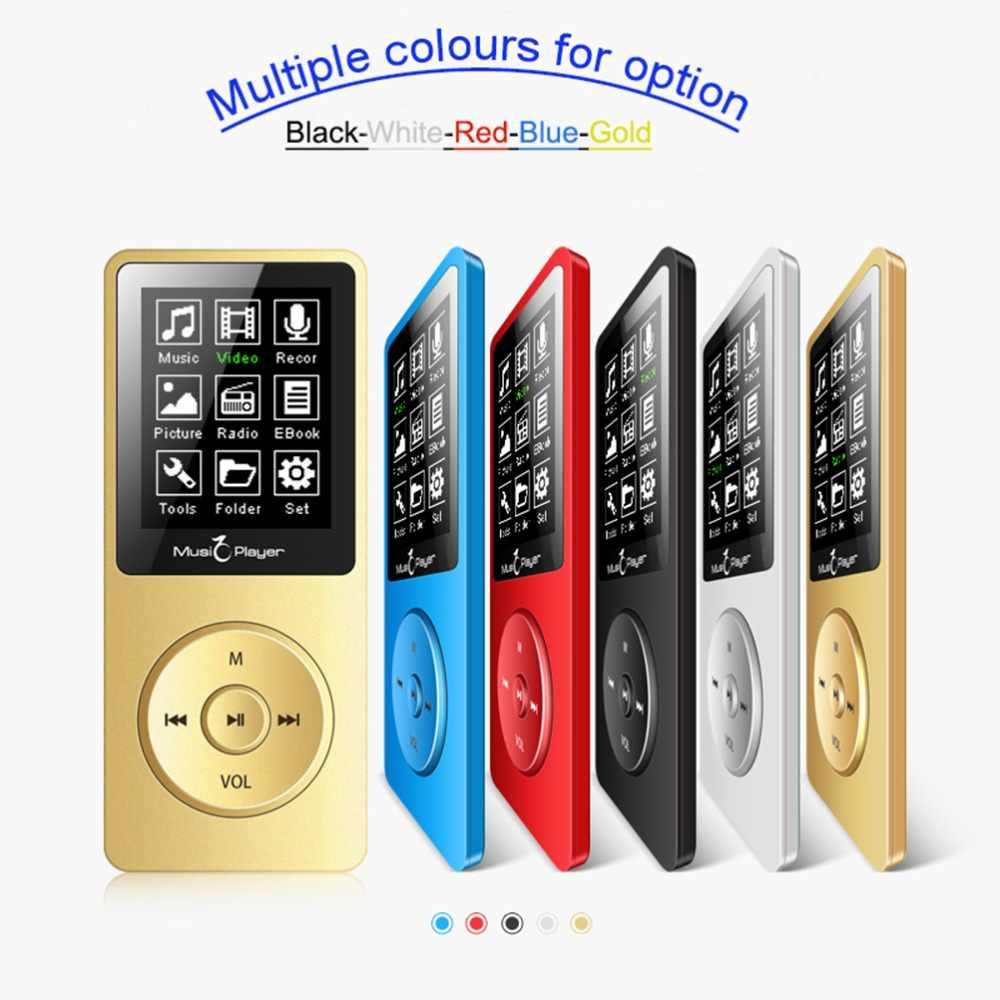 MP3 плеер со встроенным 8G и Динамик HIFI без потерь музыку Регистраторы и FM радио расширить память до 128 г Мини 1,8 дюймов Спорт walkman