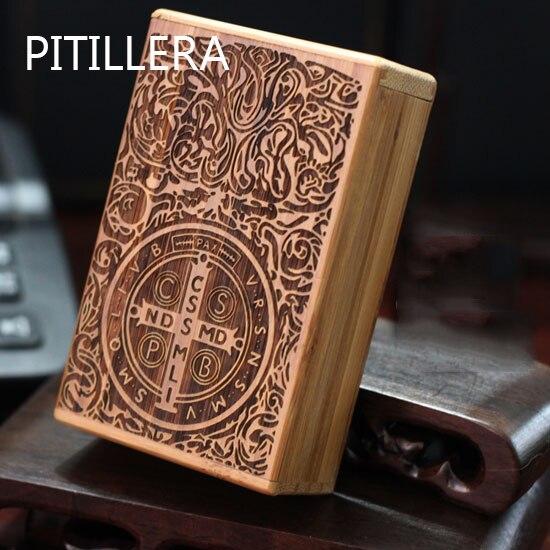PITILLERA Natural Wood Cigarette Box,engraving Tobacco Box,g…