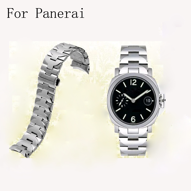 High quality 24mm Stainless Steel Watch Band Strap Link With 316 L Deployment Buckle Clasp For PANERAI Fit 44mm Case kitqua37798saf7751gr value kit quality park clasp envelope qua37798 and safco e z sort steel mail sorter module saf7751gr