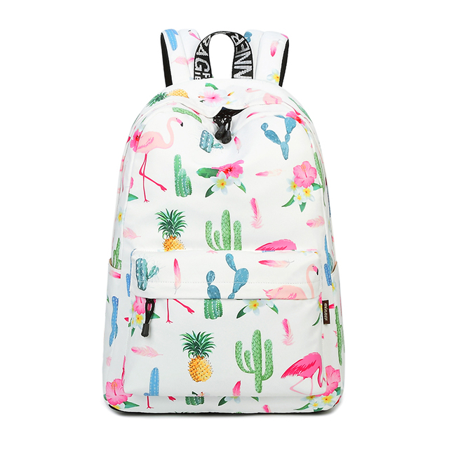ddef2b2c4261 Waterproof Lightweight Stylish Flamingos Print School Backpack Fashion Laptop  Backpack Fit for 15.6 Inches Laptop