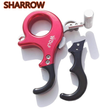Archery Release Aids Adjustable 3 or 4 Finger Grip Compound Bow Thumb Trigger Release For Outdoor Hunting Shooting Accessories цена 2017