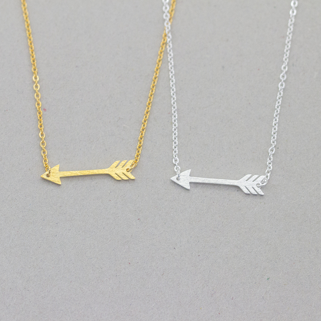 brixini.com - Vintage Arrow Charm Pendant Necklace
