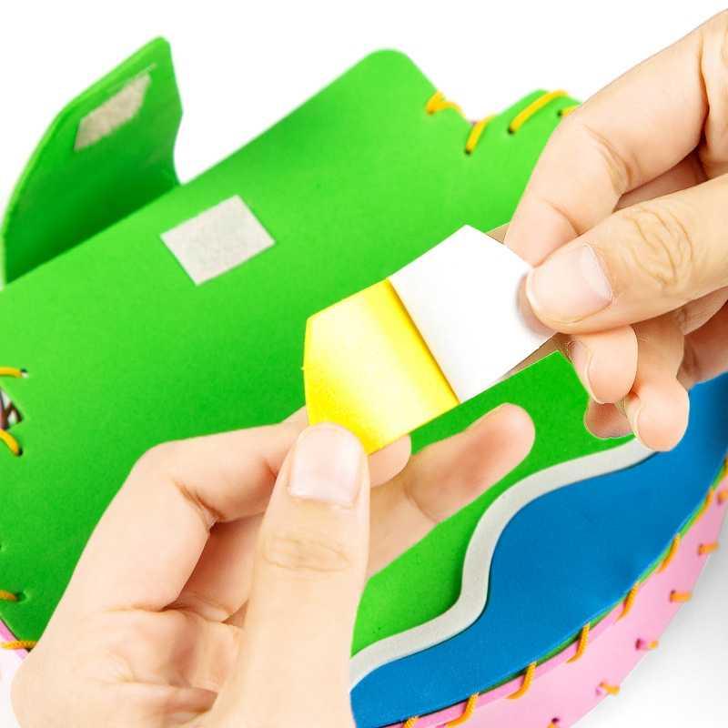 مجموعة الحرف للأطفال حقيبة إيفا الكرتون الحيوان دليل DIY بها بنفسك محلية الصنع التعليم الحرف هدايا عيد ميلاد رياض الأطفال اليدوية