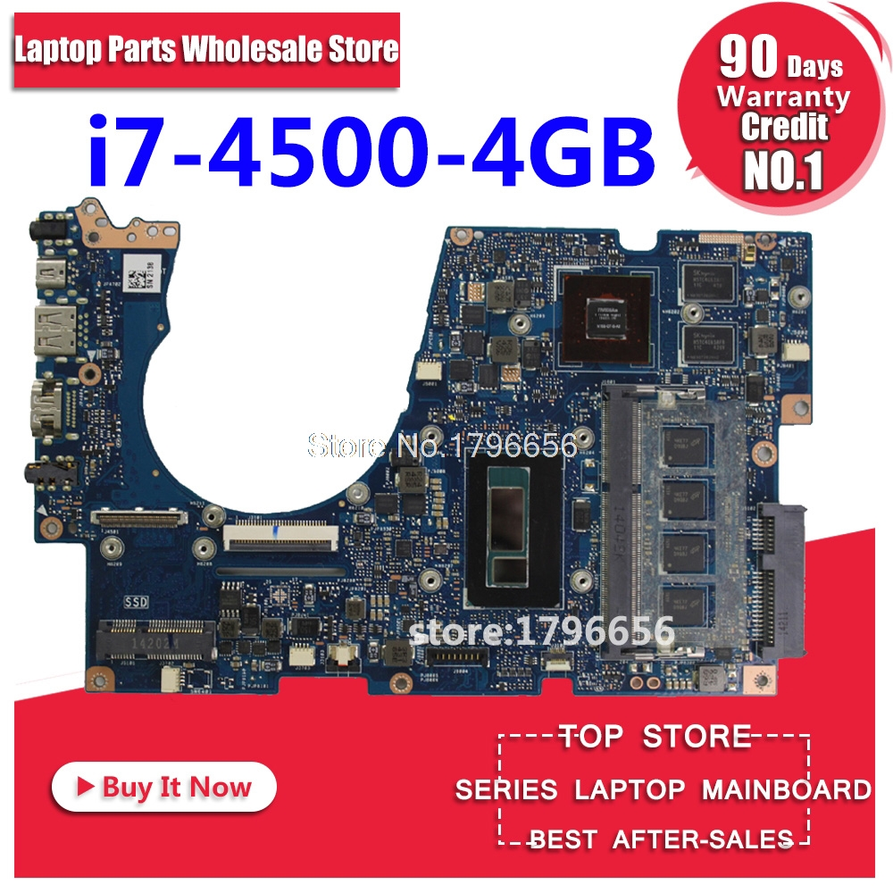 UX303LN For ASUS UX303 UX303L UX303LB UX303LN U303L Laptop motherboard UX303L mainboard REV2.0 i7-4500 CPU GT840M 4GB tested for asus s551lb s551ln s551la r553l mainboard motherboard non integrated gt840m 2gb n15s gt s a2 with i7 4500 cpu sr16z tested