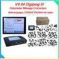 2015 Profesional OBD 2 V4.94 Digiprog 3 la más nueva versión de digiprog iii Digiprog 3 kilometraje corrección del odómetro herramienta de corrección