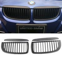 E90 E91 Black Front Kidney Grill Grilles for BMW Saloon 05 08 325i 328i 335i 4D