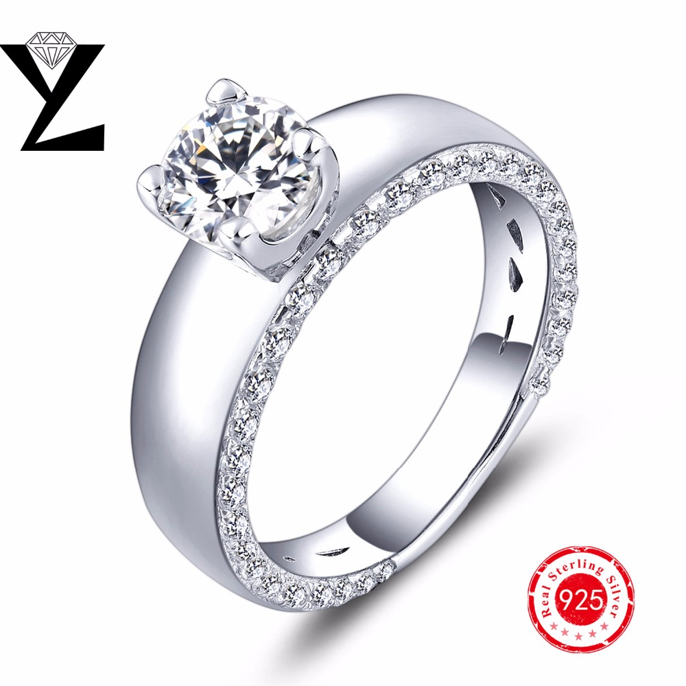 New Arrival Silver Rings for Women Wedding Engagement Ring with Rhodium Plated AAA Cubic Zirconia Sterling Silver 925 YL Jewelry