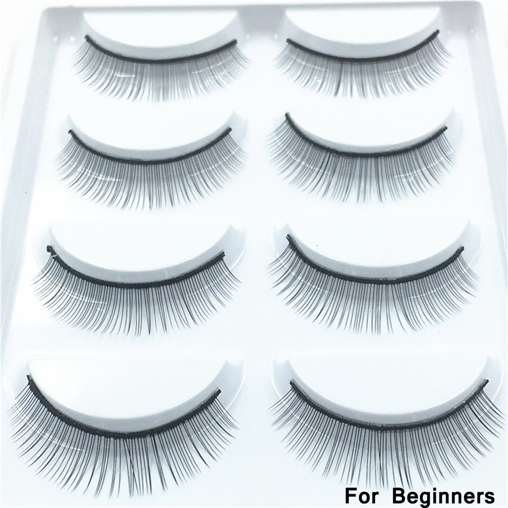 5 Pairs Training Lashes False Eyelashes Handmade For Beginners Practicing Teaching Eyelash Extension Soft Handmade Beauty Lashes