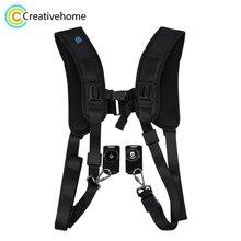 Camera Harness Strap PULUZ Quick Release Double Shoulder Harness Soft Pad Decompression Foam Shoulder Strap Belt for DSLR Camera
