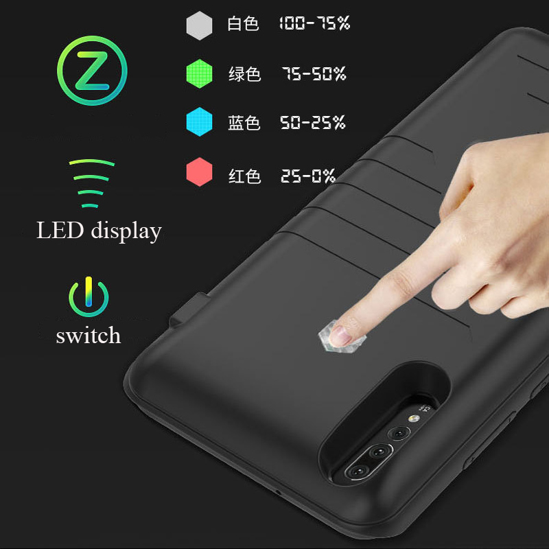 Battery charging phone case for Huawe p20 lite p20 pro Back up battery charger for huawei p20 Power bank external charging cover
