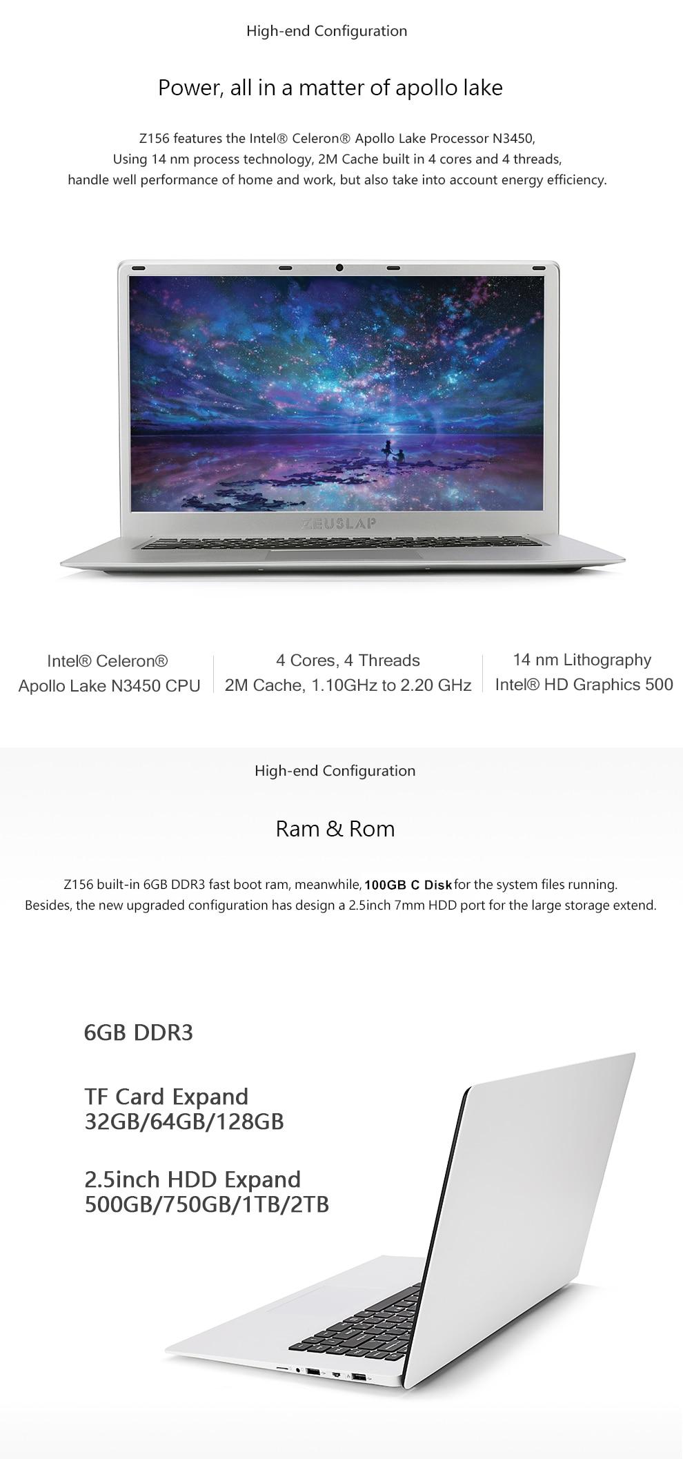 US $360 0 25% OFF|ZEUSLAP 15 6 inch 6GB Ram 2TB HDD 1920x1080P Intel Quad  Core CPU Windows 10 System Wifi Bluetooth Laptop Notebook PC Computer-in