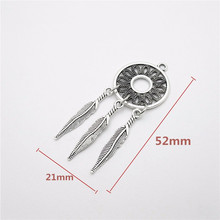 10pcs Tibetan silver Feather charm European Pendant fit for pandora style Bracelets Necklace DIY Metal Jewelry Making(China)