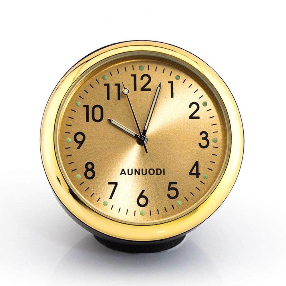 Auto Car Round Luminous Quartz Clock Mechanical Thermometer Hygrometer Meter Temperature Automobiles Decoration High Quality