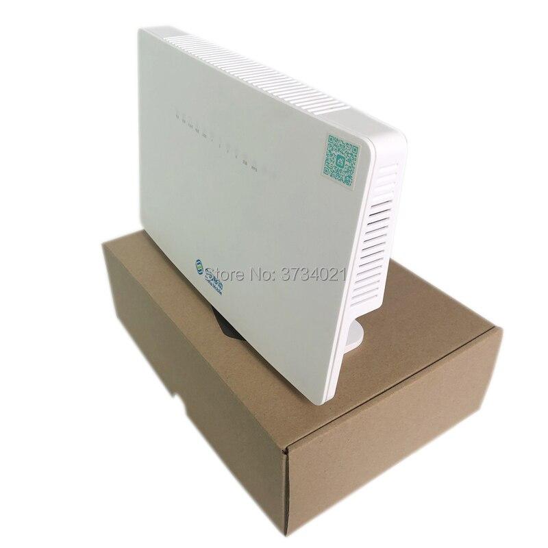 5 piezas HUA WEI HS8546V gpon ont compatible con huawei olt 4GE + 1TEL + 2USB + Wifi + mismo como HG8245H HG8240H HG8045Q HG8245Q HUAWEI HS8145V HGU Dual banda Router 4GE + Wifi 2,4 GHz/5 GHz WiFi EPON/GPON ONU ONT FTTH modo Termina Gpon de fibra Router de red