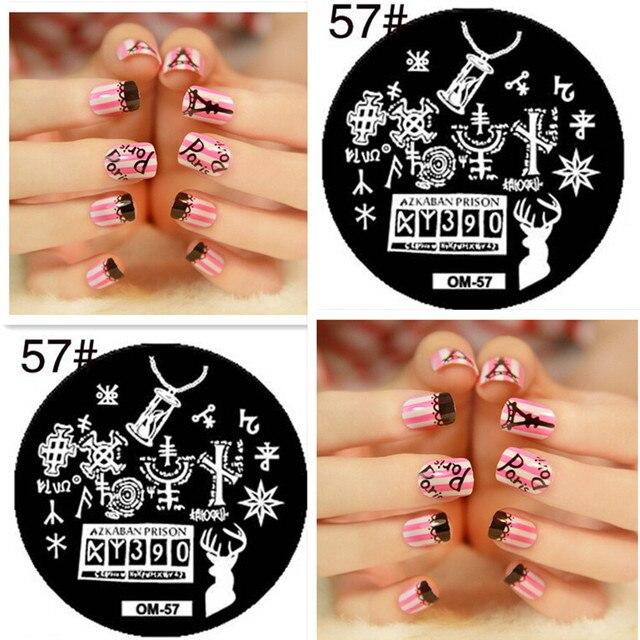 Rose Grass 1pcs Round 5555cm Nail Art Stamp Template Cross Symbol