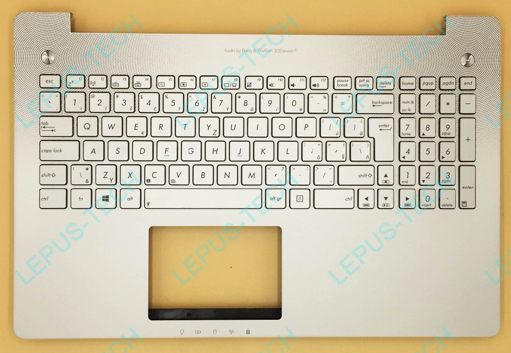SK Slovakia 90NB00K1-R31SK0 CZ UK backlight Keyboard for ASUS Q550 palmrest G550 top case N550 N550JV N550JK