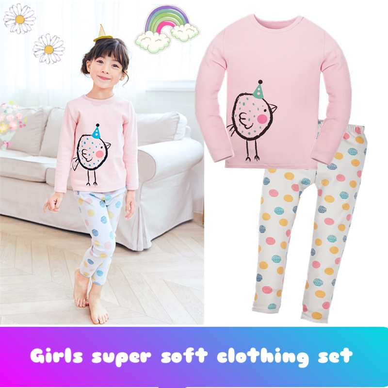 child ladies thicken pink sweatshirts clothes units ladies sleepwear cotton Lengthy sleeve cartoon chicken ladies animals Pajamas set ladies sleepwear, child lady sleepwear, pajama set lady,Low cost ladies sleepwear,Excessive...