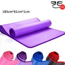 10MM NBR Non-slip Yoga Mats183cmX61cm High Quality Edge Yoga Mats For Fitness Tasteless Pilates Gym Exercise Pads with Bandages цена 2017