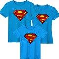 Conjuntos de Camisa Superman Camisetas de Algodão de Manga Curta de verão Da Família Família Olhar Duas Cores Frete Grátis