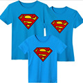 Summer Family Shirt Sets Superman T-shirts Cotton Short Sleeve Family Look Two Colors Free Shipping