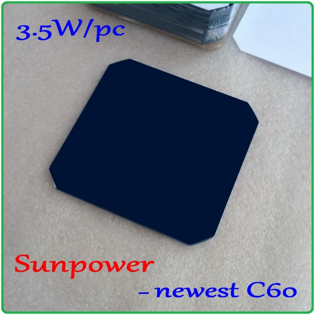 US $51 9 |Sunpower Solar Cell 5x5'' max 3 5W/pc high efficiency 125mm  Monocrystalline solar cells 10pcs/lot 100% A Grade and Enough power-in  Solar