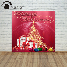 backdrop christmas backgrounds new year noel Pink gift ball tree xmas photocall vintage fond funny merry