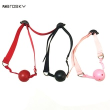 Zerosky Adult Games Open Mouth Gag Ball for Women Couple Nylon Bandage Mouth Gag Slave Oral Stuffed Flirting Sex Toys