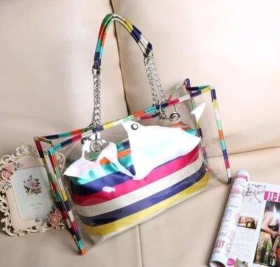 dc75ccdb92c4e Przezroczysta torba nowa letnia torba plażowa kryształowa galaretka  koreański rzęs torba na ramię torba na ramię kobiety moda torebka
