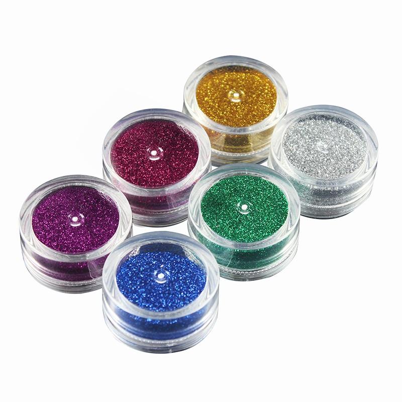 OPHIR Glitter Tattoo 6 Colors Glitter Powder for Body Art Paint Nail Temporary Glitter Tattoo Kit with 10x Stencils Glue _TA054 12