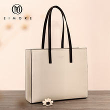 EIMORE grande capacité sacs à main femmes en cuir véritable grand fourre tout sac seau femme sac à bandoulière Simple dames marque de luxe sac