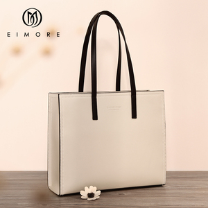 Image 1 - EIMORE 大容量ハンドバッグ女性の本革ビッグトートバッグ女性のショルダーバッグシンプルな女性の高級ブランドバッグ
