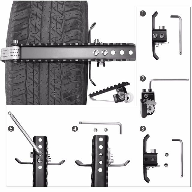 EZUNSTUCK Tire Anti-Skid Tool-RWD/AWD/4x4 SUV, Trucks, Pickup-EZ-D02ML , Sand, Snow, Ice, Better Than Traction Mat, Tire Chains 1