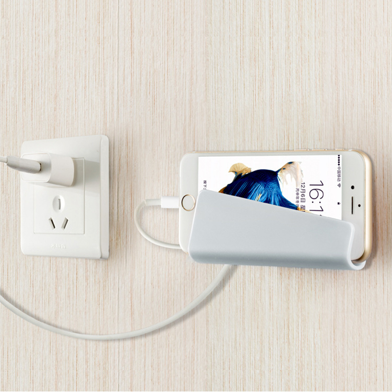 973868c2e4 Mobile Phone Holder Wall Charging Stand with 3M Adhesive for iPhone 8 X 7  plus Samsung