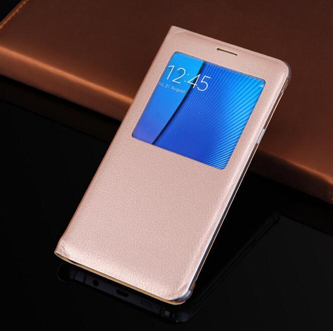 G530 étuis à rabat fenêtre écran vue couverture pour Samsung Galaxy Grand Prime SM G530H G531 G531H G531F cuir téléphone sacs portefeuille