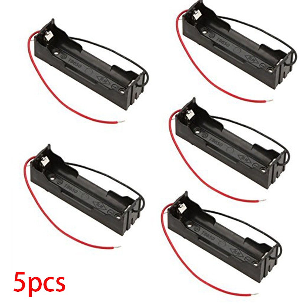 5Pcs DIY Battery Storage Case Box Holder For 3.7V 18650 Lithium Batteries Line Box