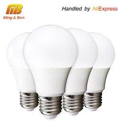 [MingBen] 4pcs LED Bulb Lamp E27 3W 5W 7W 9W 12W 15W 220V Cold White Warm White Lampada Ampoule Bombilla High Brightness Light