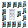 15Receiver 1Transmitter Wireless Controller Remote Control Relay LED Learn Code Long Range DC24V 1CH RF Remote