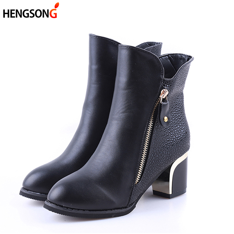 2018 New Fashion Spring Women Shoes High Heel Martin Boots Buckle Punk Ankle Motorcycle Boots Female Botas Shoes Zipper Black cuddlyiipanda 2017 punk boots women black ankle boots motorcycle thin high heel double buckle punk platforms botas mujer