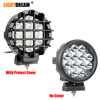 60W Spot Beam 6 Inch Round LED Work Light 60W Car Driving Lights Spotlights for Off Road 4x4 Pickup Truck x1pc|Light Bar/Work Light|Automobiles & Motorcycles -