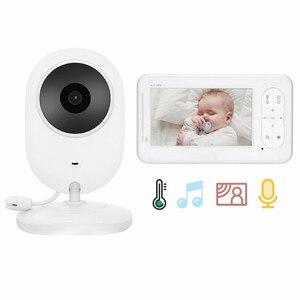 4,3-дюймовый беспроводной видеоняня 2 Way Talk высокое цветовое разрешение детская няня камера безопасности VOX режим контроля температуры