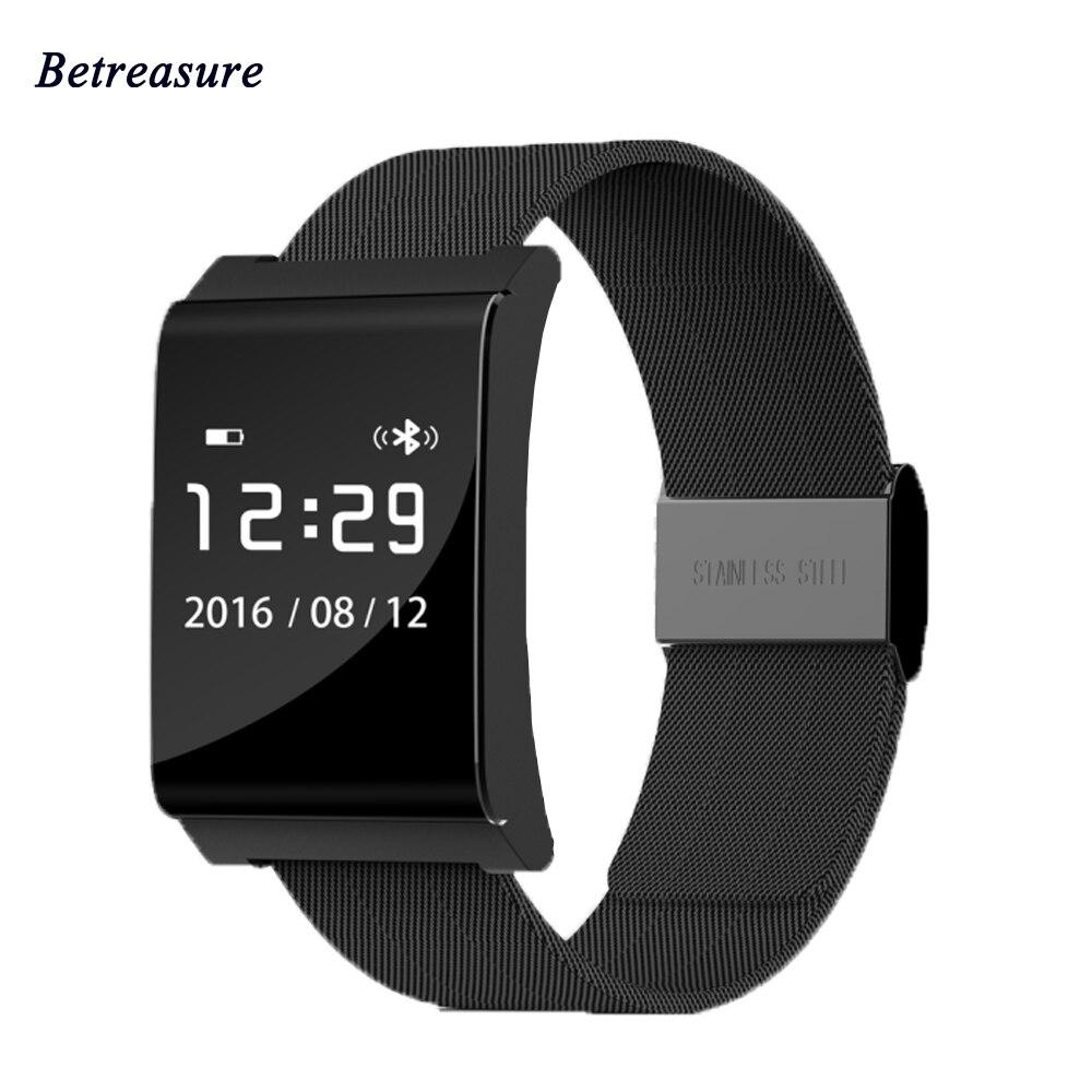 imágenes para Betreasure X9PLUS Banda Inteligente Bluetooth Heart Rate Monitor de Oxígeno En La Sangre La Presión Arterial Impermeable Pulsera Inteligente Para Android IOS
