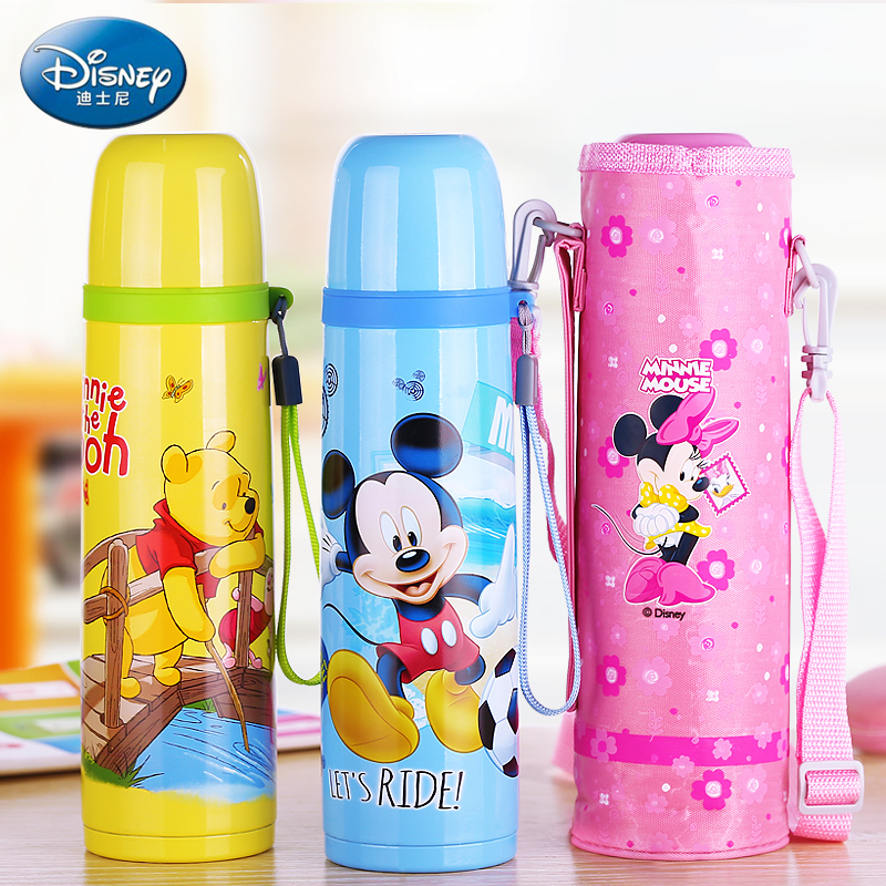 Disney Baby Thermos Bottle Feeding Hot water Bottle Vacuum Flask Insulation Kettle Stainless Steel Portable Outdoor Camping