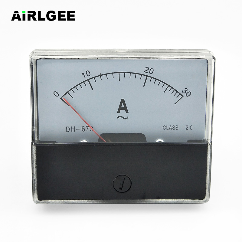 1Pcs 6L2-A AC 0-300A Class 1.5 Accuracy Vertical Mounted Analog Ammeter