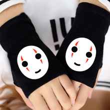 2019 Winter Anime Spirited Away Cotton Glove Fingerless Wrist Cartoon Gloves Mitten Unisex Cosplay Gift