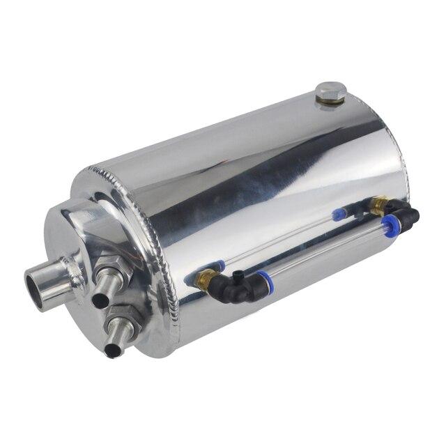 VR RACING-2L 2-литровый алюминиевый полированный круглый масляный бак с фильтром VR-TK01